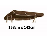 158cm x 142cm Replacement Swing Canopy with White Trim