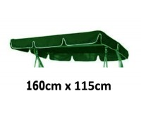 160cm x 115cm Replacement Swing Canopy with White Trim