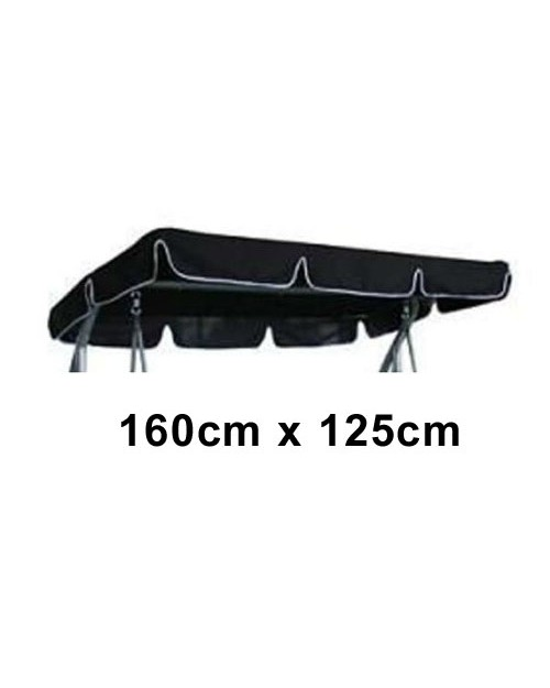 160cm x 125cm Replacement Swing Canopy with White Trim