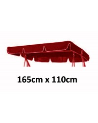 165cm x 110cm Replacement Swing Canopy with White Trim