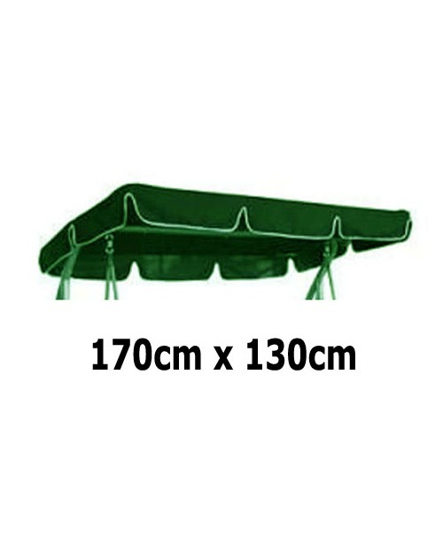 170cm x 130cm Replacement Swing Canopy with White Trim
