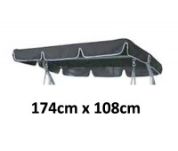 174cm x 108cm Replacement Swing Canopy with White Trim