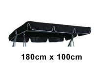 180cm x 100cm Replacement Swing Canopy with White Trim