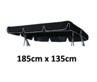 185cm x 135cm Replacement Swing Canopy with White Trim