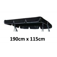 190cm x 115cm Replacement Swing Canopy with White Trim