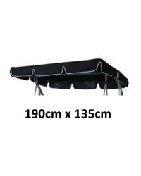 190cm x 135cm Replacement Swing Canopy with White Trim