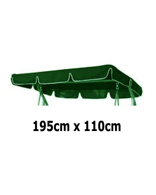 195cm x 110cm Replacement Swing Canopy with White Trim