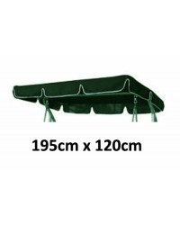 195cm x 120cm Replacement Swing Canopy with White Trim