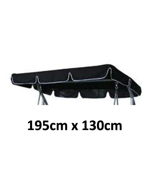 195cm x 130cm Replacement Swing Canopy with White Trim