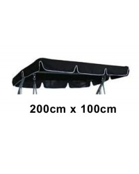200cm x 100cm Replacement Swing Canopy with White Trim