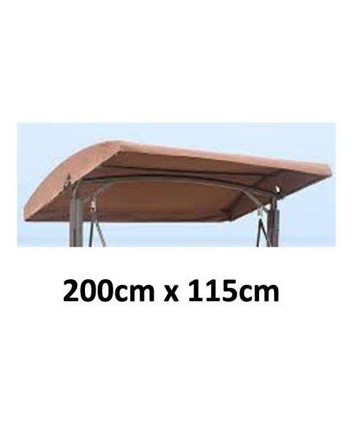 200cm x 115cm Replacement Canopy with Rounded Top Roof