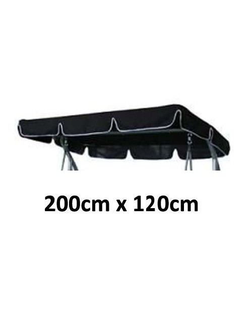 200cm x 120cm Replacement Swing Canopy with White Trim