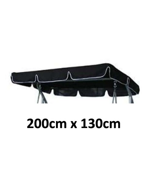 200cm x 130cm Replacement Swing Canopy with White Trim