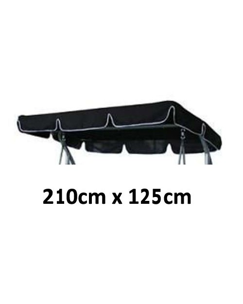 210cm x 125cm Replacement Swing Canopy with White Trim