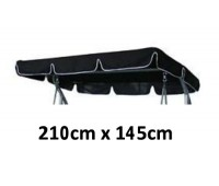 210cm x 145cm Replacement Swing Canopy with White Trim