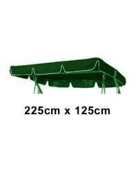 225cm x 125cm Replacement Swing Canopy with White Trim