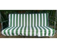 Cushion Cover (padded) in Green and White Stipes