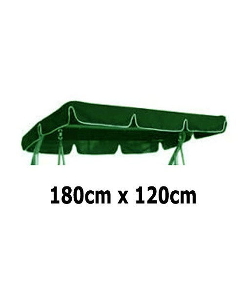 180cm x 120cm Replacement Swing Canopy with White Trim