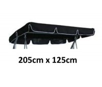 205cm x 125cm Replacement Swing Canopy with White Trim
