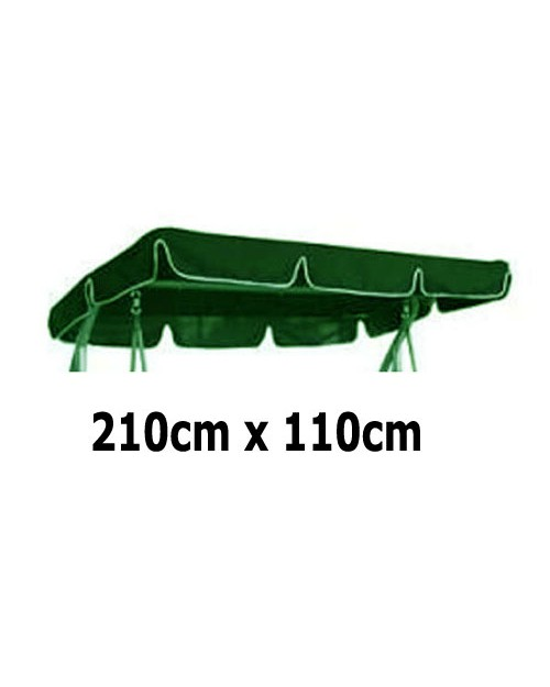 210cm x 110cm Replacement Swing Canopy with White Trim