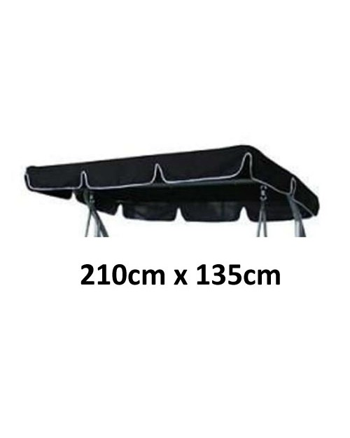 210cm x 135cm Replacement Swing Canopy with White Trim