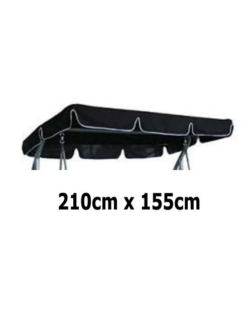 210cm x 155cm Replacement Swing Canopy with White Trim