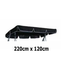 220cm x 120cm Replacement Swing Canopy with White Trim