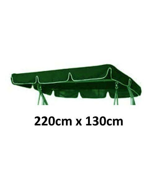 220cm x 130cm Replacement Swing Canopy with White Trim