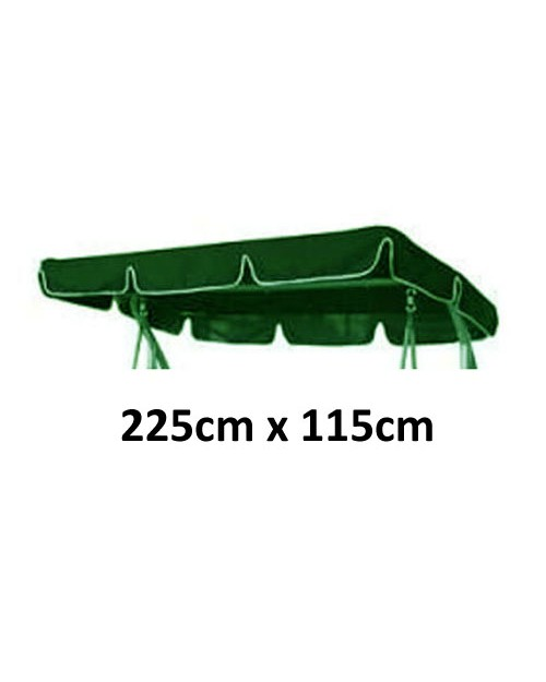 225cm x 115cm Replacement Swing Canopy with White Trim