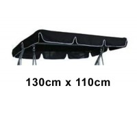 130cm x 110cm Replacement Swing Canopy with White Trim