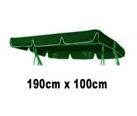 190cm x 100cm Replacement Swing Canopy with White Trim