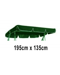 195cm x 135cm Replacement Swing Canopy with White Trim