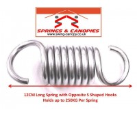 Strong Spring 12cm 8-Coil 'S' Shaped